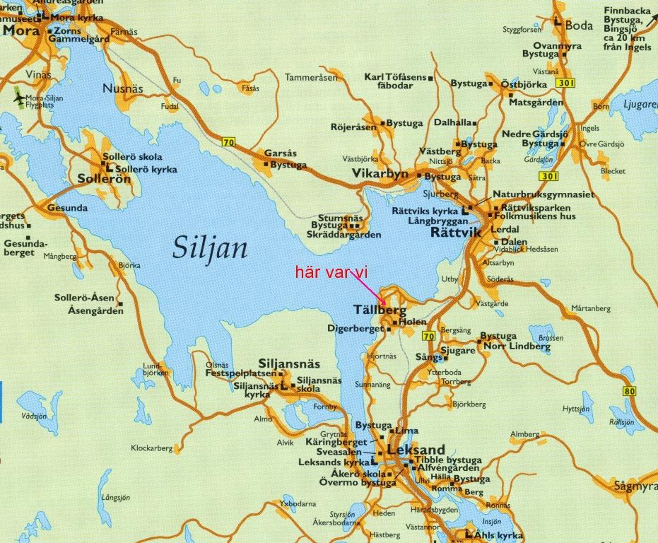 siljan runt karta Midsommarafton i Falun 2010 med besök i Tällberg siljan runt karta